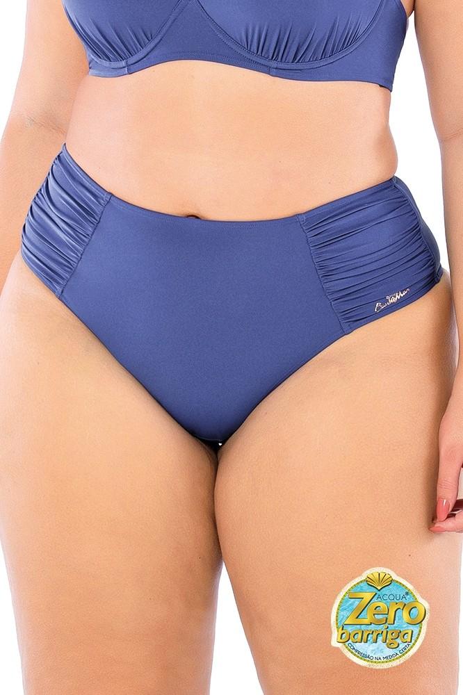 Biquíni Sunkini Drapee Liso Zero Barriga Blue Jeans