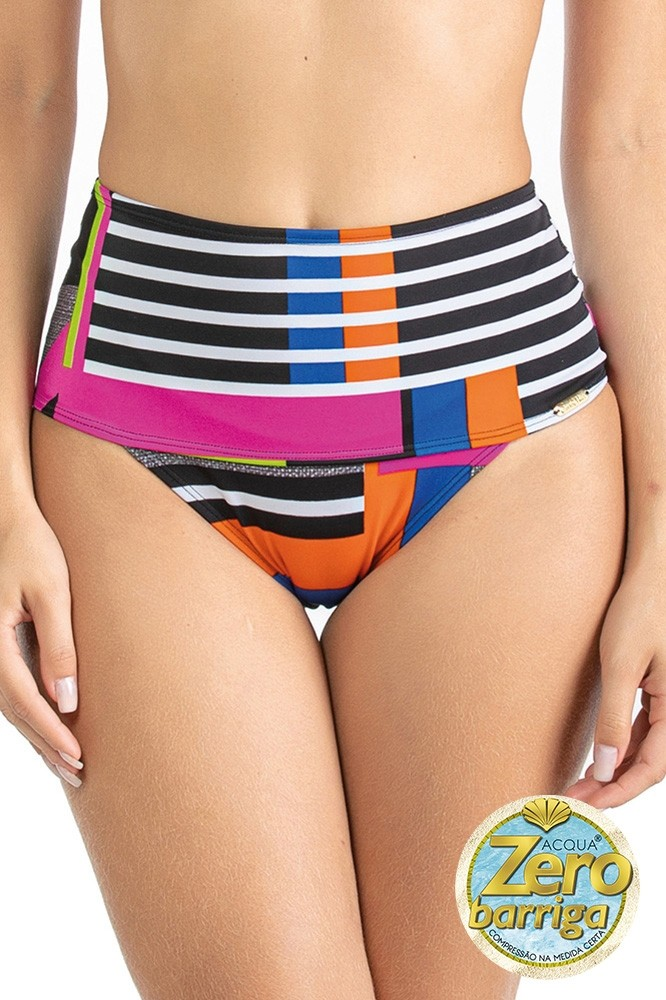 Sunkini Faixa Estampado Zero Barriga Color Graphic Ref: 601249