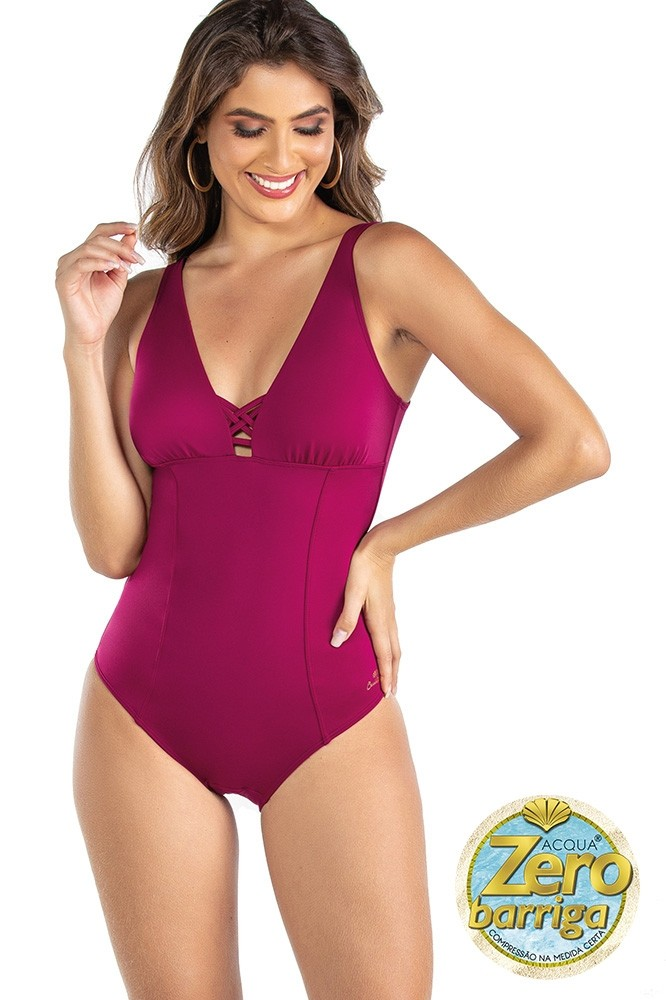 Maiô Modern Liso Zero Barriga Red Fruits Ref: 601576